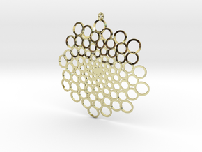 Spiral Bubbles Pendant in 18k Gold Plated Brass