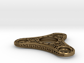 "Skyrim ""Dwemer"" style Fidget Spinner  - metal in Natural Bronze"