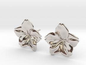 Sakura Stud Earrings in Platinum