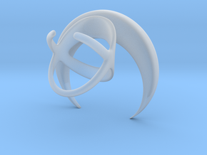 Renaissance Moon Ring in Smooth Fine Detail Plastic: 6 / 51.5