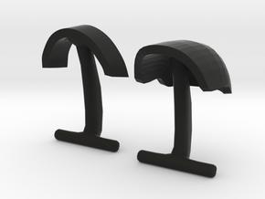 Daft Punk Cufflink Visors and Studs in Black Natural Versatile Plastic