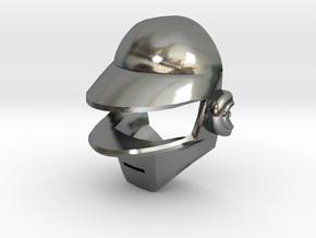 Daft Punk Silver Cufflink in Polished Silver