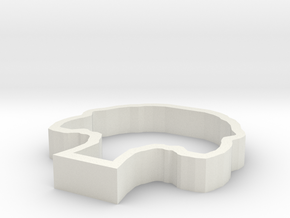 Oak Tree Paperweight in White Natural Versatile Plastic
