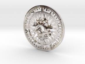 Archimedes Wheel - 6 inch in Rhodium Plated Brass