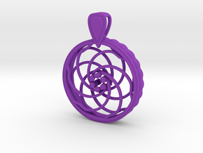 FlexPendant For Beads in Purple Processed Versatile Plastic