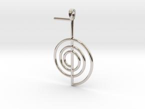 Reiki Power Symbolic jewelry Pendant Choku-Rei in Platinum