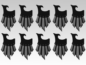 Raven Veteran Right Storm Shields X10 in Smooth Fine Detail Plastic