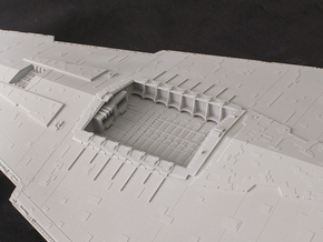 Hangar Bay for 1/2700 Revell/Zvezda Star Destroyer in Frosted Ultra Detail