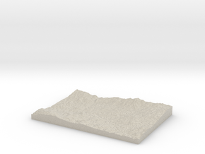 Model of Aghutadzor in Natural Sandstone