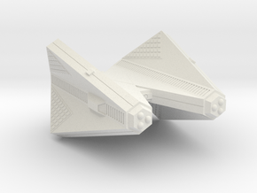 3788 Scale Tholian Cruiser (C) SRZ in White Natural Versatile Plastic