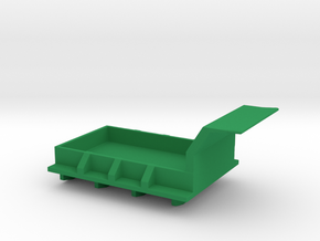1/87 Scale M34 Dump Truck Bed in Green Strong & Flexible Polished