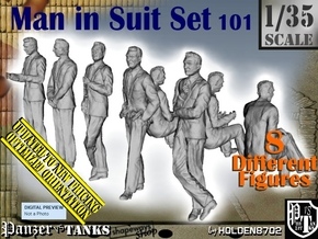 1/35 Man In Suit Set101 in Smooth Fine Detail Plastic