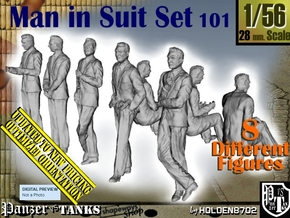 1/56 Man In Suit Set101 in Smooth Fine Detail Plastic