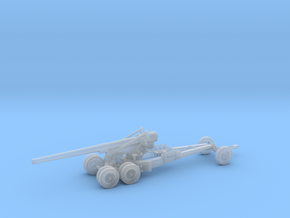 1/160 US 155mm Long Tom Cannon Travel Mode in Smooth Fine Detail Plastic