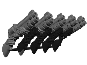Shotgun Weapons Pack in Smooth Fine Detail Plastic