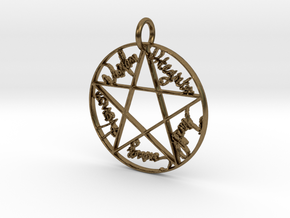 Pentacle Pendant in Natural Bronze