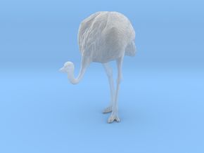 Ostrich 1:32 Head Down in Smooth Fine Detail Plastic