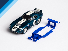 1/32 Monogram Cobra Daytona Chassis for Slot.it IL in Blue Processed Versatile Plastic