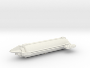 Omni Scale Tholian Small Freighter SRZ in White Natural Versatile Plastic