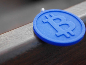 Coin Size bitcoin in White Natural Versatile Plastic