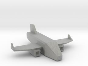 Low Poly 3D Airplane in Metallic Plastic: Medium