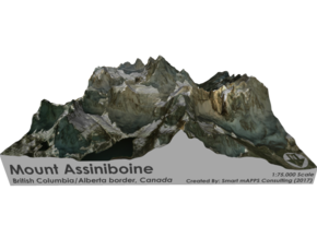 Mount Assiniboine Map - Natural in Full Color Sandstone