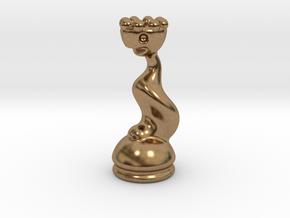 Queen in Raw Brass