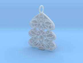 Christmas Tree Holdiday Lace Pendant Charm in Smooth Fine Detail Plastic