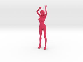 1/10 Race Queen Holding Flag in Pink Processed Versatile Plastic
