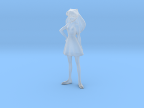 1/[35, 43] Girl in Dress in Smooth Fine Detail Plastic: 1:35