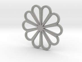 Flower  in Metallic Plastic