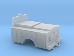 Standard Full Box Truck Bed MOW 1-87 HO Scale in Smooth Fine Detail Plastic