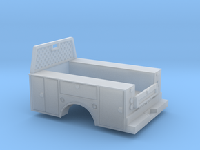 Standard Full Box Truck Bed W Cab Guard 1-87 HO Sc in Smooth Fine Detail Plastic