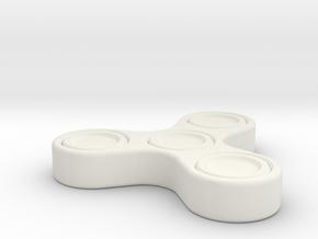 1 piece print fidget_spinner in White Natural Versatile Plastic