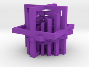 Stairways in Purple Processed Versatile Plastic