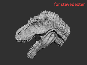 Tyrannosaurus Head & Neck (5.81cm) for stevedexter in White Strong & Flexible