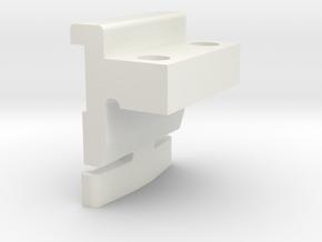 Wedge Straight in White Natural Versatile Plastic