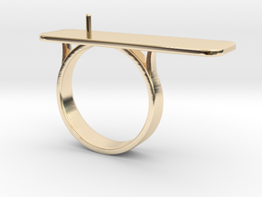 Anniversary ring with Pearl - RS000100091 in 14k Gold Plated Brass: 4 / 46.5