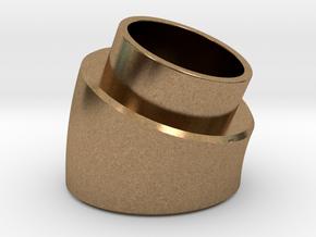 22.5 Deg Elbow in Natural Brass