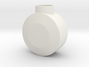 Round Pommel in White Natural Versatile Plastic