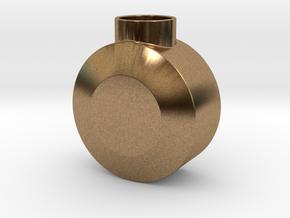 Round Pommel in Natural Brass