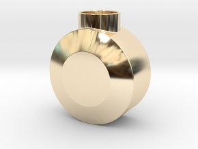 Round Pommel in 14K Yellow Gold