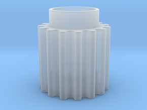 Round Tooth Gear in Smooth Fine Detail Plastic