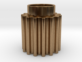 Round Tooth Gear in Natural Brass