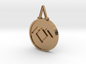 Twin Peaks Black Lodge Pendant in Polished Brass