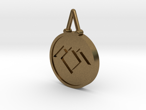 Twin Peaks Black Lodge Pendant in Natural Bronze