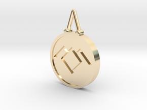 Twin Peaks Black Lodge Pendant in 14k Gold Plated Brass