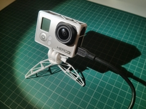 GoPro open frame & mini tripod in White Processed Versatile Plastic