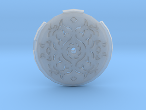 Hollow Rune Medallion in Smooth Fine Detail Plastic