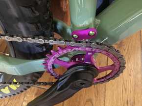 Cover for S3 Low Direct Mount - front derailleur M in Purple Strong & Flexible Polished